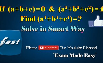 How to Solve this problem of Mathematics in smart way - Lecture Series on Fast Mathematics