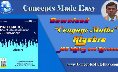 Cengage Maths - Algebra for JEE Mains and Advanced Exam (PDF)