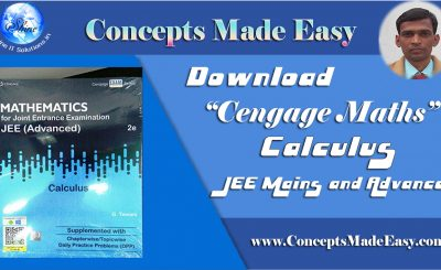 Download Cengage Maths - Calculus for JEE Mains and Advanced Exam (in PDF)