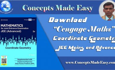 Download Cengage Maths – Coordinate Geometry for JEE Mains and Advanced Exam 2019-20 (in PDF)