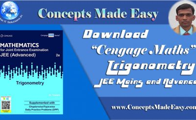Download Cengage Maths - Trigonometry for JEE Mains and Advanced Exam (in PDF)