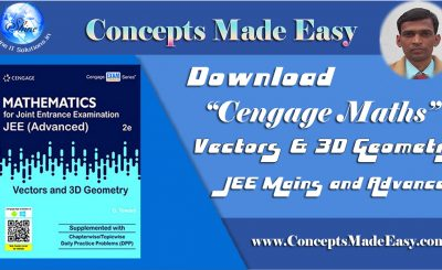 Download Cengage Maths – Vectors and 3D Geometry for JEE Mains and Advanced Exam 2019-20 (in PDF)