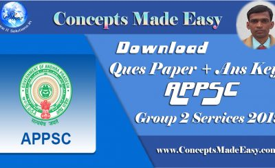 Download APPSC Group 2 Services 2019 Exam Question Paper and Answer Key held on 5th May 2019