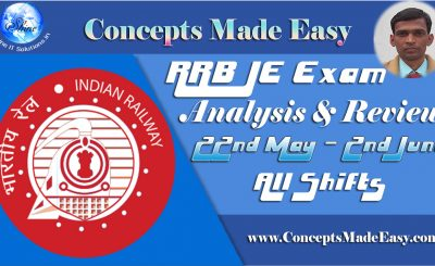 RRB JE Exam Analysis and Review of Question Paper asked in all shifts held on 22nd May to 2nd June 2019
