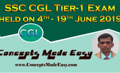 SSC CGL Tier-1 Exam Analysis and Review of Question Paper asked in all shifts held from 4th June to 19th June 2019