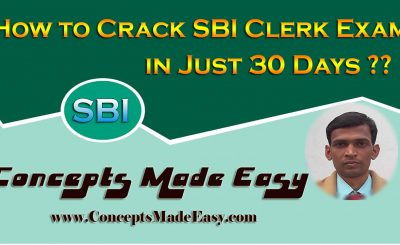 How to Crack an SBI Clerk Examination in just 30 days ??