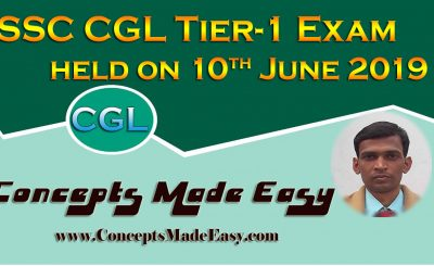 SSC CGL Tier-1 Exam Analysis and Review of Question Paper asked in all shifts held on 10th June 2019