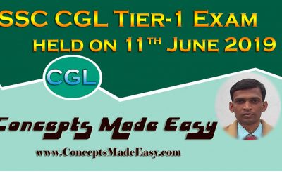 SSC CGL Tier-1 Exam Analysis and Review of Question Paper asked in all shifts held on 11th June 2019
