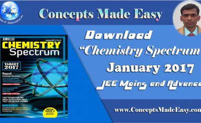 Download Chemistry Spectrum January 2017 Edition for JEE Mains and Advanced Examination (PDF)