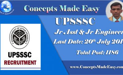 UPSSSC Recruitment 2019 – Apply Online for Junior Assistant and Junior Engineer