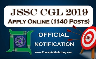 JSSC CGL 2019 Notification Out - Apply Online for 1140 Vacancies at jssc.nic.in