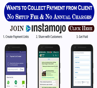 Click below to Join Instamojo and Collect Payment from Client
