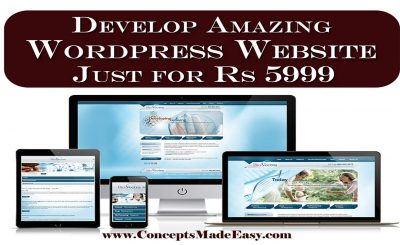 Develop Amazing Wordpress Website just for Rs 5999