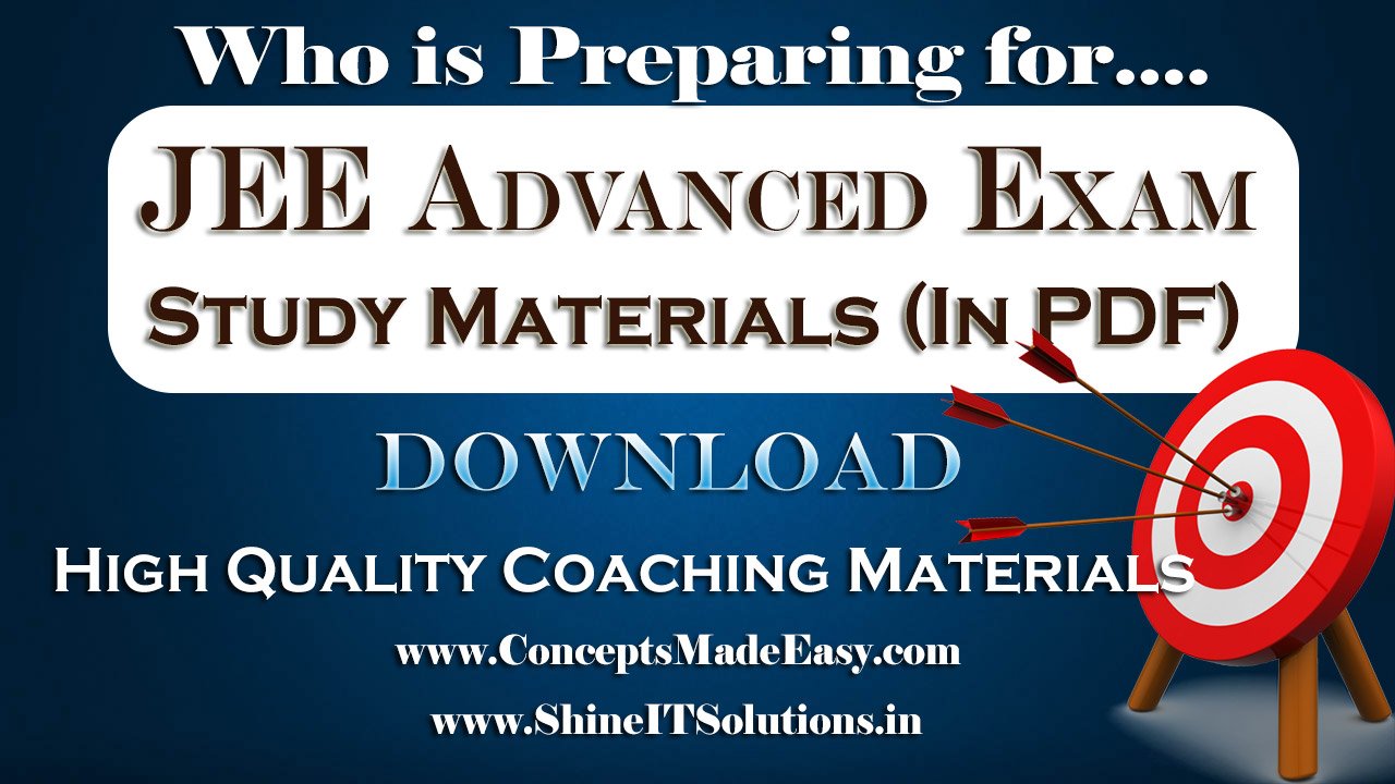 Register and Check your Mail to Download High Quality Coaching Classes Study Material for JEE Mains and Advanced Examination (PDF) Free of Cost