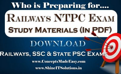 Register and Check your Mail to Download High Quality Topper's Study Material for Railways, SSC, Bank Po-Clerk and State PSC Examination (PDF) Free of Cost