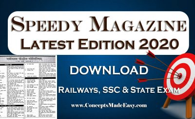 Download Speedy Current Affairs Magazine Latest Edition 2020 for Railways, SSC, BPSC, JSSC, BSSC, Bank and other State Examination