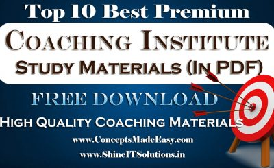 Top 10 Best Premium Coaching Institute Study Materials Free Download in PDF from ConceptsMadeEasy.com