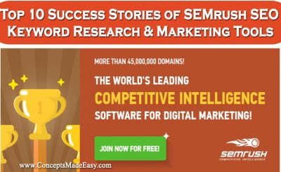 Top 10 Success Stories of SEMrush SEO Keyword Research and Marketing Tools