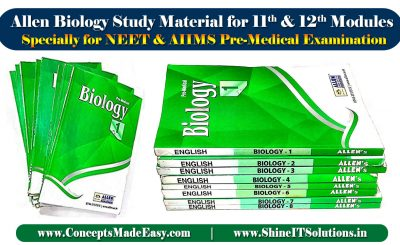 Allen Biology Study Material for 11th and 12th Classroom Modules Specially for NEET and AIIMS Pre-Medical Examination
