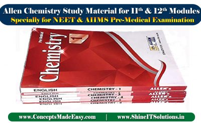 Allen Chemistry Study Material for 11th and 12th Classroom Modules Specially for NEET and AIIMS Pre-Medical Examination
