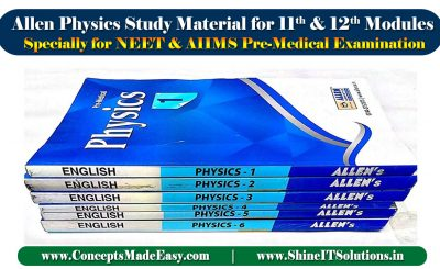 Allen Physics Study Material for 11th and 12th Classroom Modules Specially for NEET and AIIMS Pre-Medical Examination