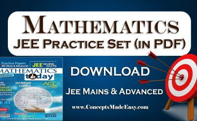 Download Mathematics Today March 2016 Magazine - Mathematics JEE Practice Set for JEE Mains and Advanced Examination in PDF Free of Cost from ConceptsMadeEasy.com