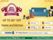 Amazon Great Indian Festival - Get up to 80% off on Homes & kitchen Appliances   20000+ deals and Combo offers on Amazon Great Indian Festival