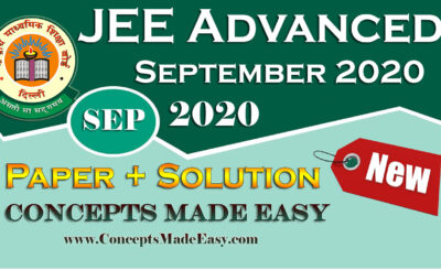 Download Solved Question Paper (Question + Answers Key) held in September of JEE Advanced Examination 2020 Free of Cost from ConceptsMadeEasy.com