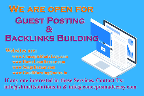 We are providing Guest Posting and Backlinks Building Services on our High Quality Websites