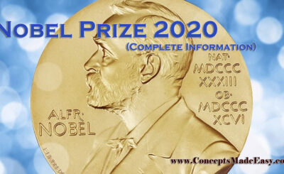 Nobel Prize 2020 (Complete Information) Specially for Railways NTPC and Group-D, SSC, UPSC and State PSC Examinations from ConceptsMadeEasy.com